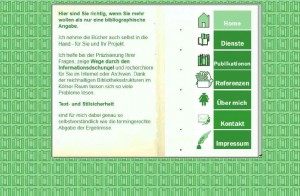 Home-Seite von Profi-Wissen im Jahr 2005. bitte beachten. Die Menüleiste ist - schon! - rechts.