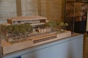 Ein Modell zeigt das Gebäude mit allen Räumen