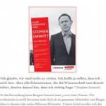 Stadtbibliothek Köln verlost Karten für Stephen Emmott