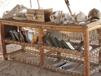 Malerisch mit den Schädel obendrauf - Büchertauschregal mit geringer Belastungskapazität. Foto: Birte Mirbach