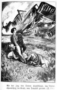 Wieder ein Unglück, diesmal mit dem zug - der Amerikaner Deephill (bitte Namensübersetzungsmöglichkeiten beachten!) rettet Richards Schwester Emm