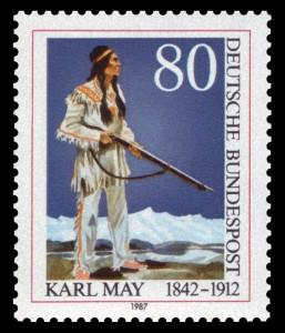 Buchcover Briefmarke 1987 Winnetou-Trilogie