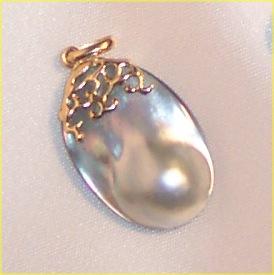 Eine besodners geformte Perle - Perlen sind ja nicht nur rund