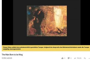 Dorothy L. Sayers Youtube-Video zu The Man born to be king mit geköschter Tonspur wegen Urheberrecht