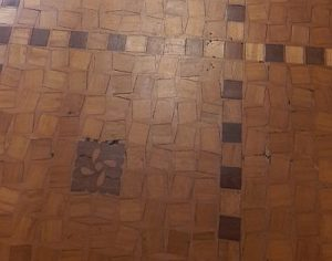 Carnegie-Bibliothek Reims Fußboden Foto: Heike Baller