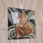 Carnegie-Bibliothek Reims, Eingangsbereich Mosaik Religion Foto: Heike Baller