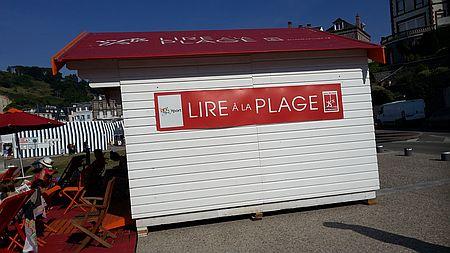 Lesen am Strand Seine-maritime Lire à la plage Pavillon