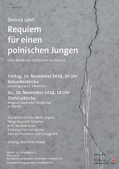 Plakat Konzert Requiem Dietrich Lohff Köln-Dellbrücl Köln-Innenstadt