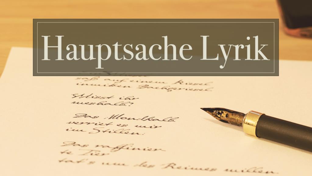 Hauptsache Lyrik – Gedichte aus allen Epochen in der Hörbar