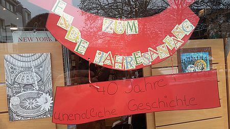40 Jahre unendliche Geschichte Schaufenster Buchhandlung Baudach