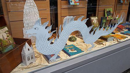 40 Jahre unendliche Geschichte - Schaufenster Buchhandlung Baudach Fuchur