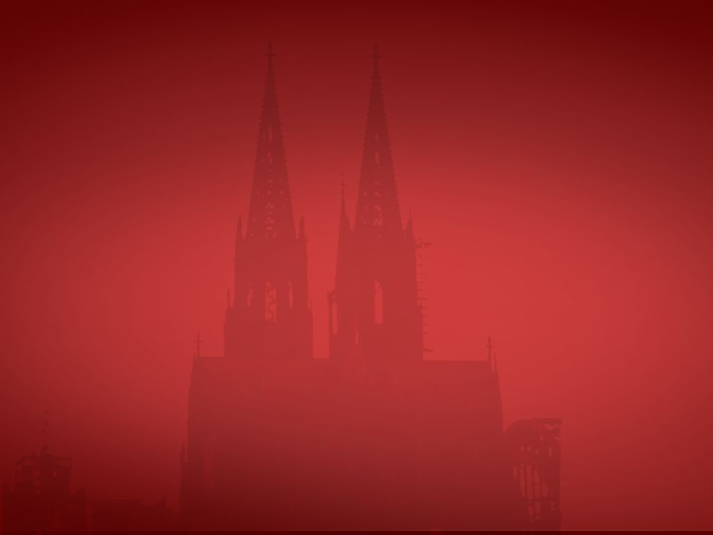 Dom Silhouette in Rot