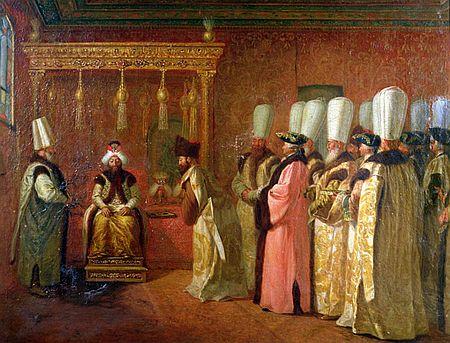 Johann Jacob Bach ist zwar in Konstantinopel - Olaf Schmidt lässt das Zusammentreffen mit dem Sultan aber in ganz anderem Ambiente spielen.