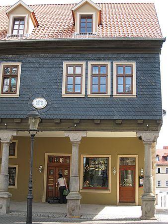 Café Marlitt in Arnstadt im Geburtshaus von E. Marlitt.