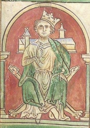 Mittelalterliche Darstellung von König John mit schief aufgesetzter Krone - für Teufelskrone von Rebecca Gablé