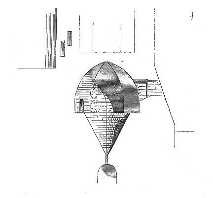 Schematische Darstellung eines Kerker Oubliette, wie sie in Teufelskrone beschrieben ist.
