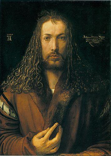 Albrecht Dürer, Selbstporträt, Titelbild des Buchs von Susanne Partsch