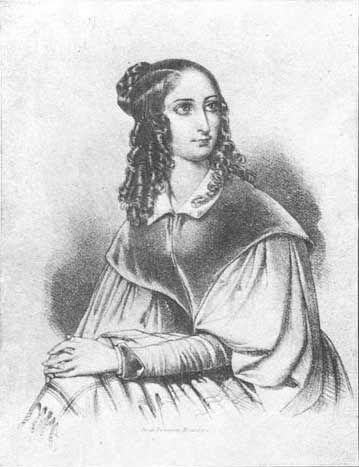 Portrait Flora Tristan Sozialistin von Anfang des 19. Jahrhunderts für das Buch von Kristen R. Ghodsee