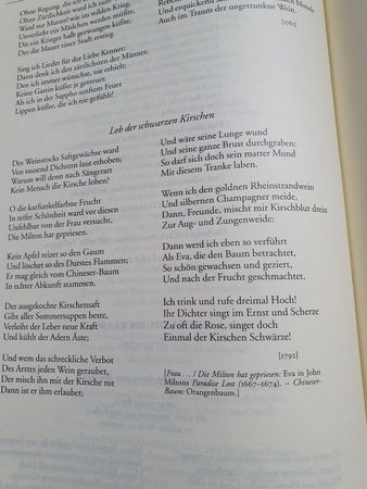 Eine Seite aus der großen Gedichtsammlung von Karl Otto Conrady.