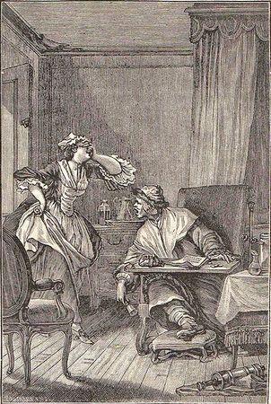 Historische Illustration zu Der eingebildete Kranke, das im September im Waldbad in Köln-Dünnwald aufgeführt wird.