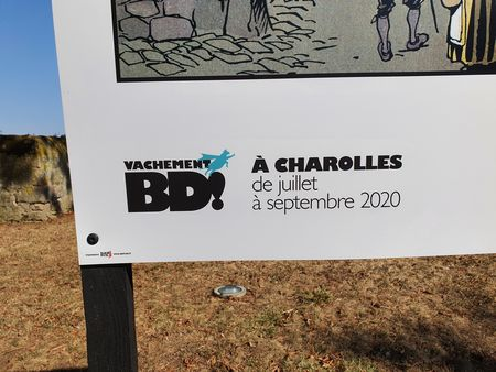 "Das Logo zu ""Vachement B. D."" in Charolles"