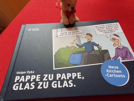 Titel von Holger Pykas neuen Kirchen-Cartoons mit MArtin
