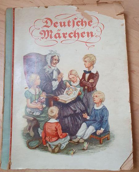"""Titelblattt zu """"Deutsche Märchen"""" aus der Kriegszeit - Großmutter und 5 Kinder"""
