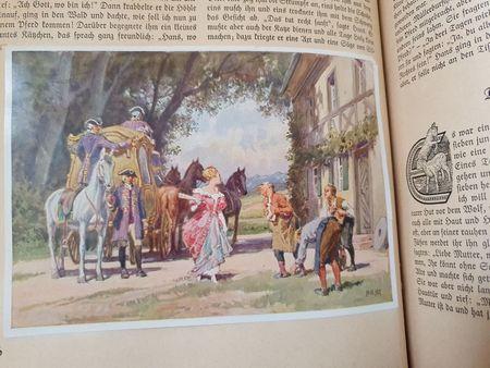 Bild zu Der arme Müllerbusch udn das Kätzchen: Prinzessin in rosa Robe mit goldener Kutsche
